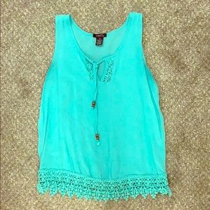 XS Women's Rue 21 Blue Tank Top
